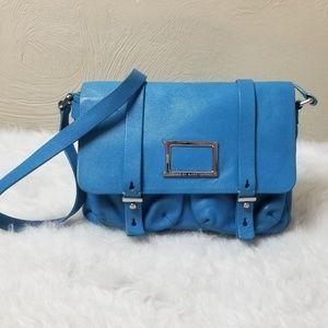 Marc Jacobs blue crossbody mini messenger bag